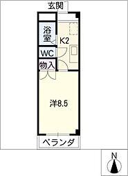 カーザ・桝形[3階]の間取り