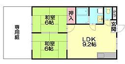 福岡県福岡市博多区月隈2丁目の賃貸マンションの間取り