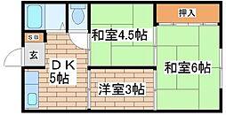兵庫県神戸市長田区檜川町1丁目の賃貸アパートの間取り
