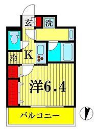 JR総武線 両国駅 徒歩9分の賃貸マンション 6階1Kの間取り