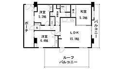 兵庫県神戸市長田区明泉寺2丁目の賃貸マンションの間取り