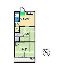 朝倉ビューハイツ[3階]の間取り