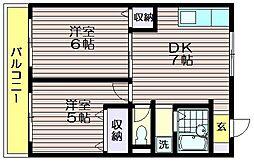 荒井第一マンション[111号室]の間取り