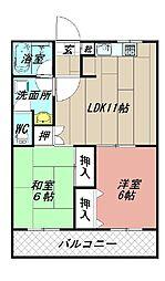 ロイヤルシャトー片山[101号室]の間取り