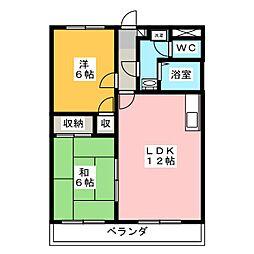 ストークハウス岩崎A[3階]の間取り