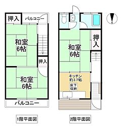 近鉄大阪線 今里駅 徒歩15分 3Kの間取り
