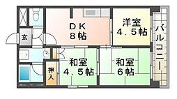 ハイツ橋本[2階]の間取り