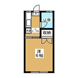 ローズハウス[2階]の間取り
