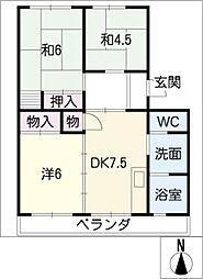 パビリオンゆたか501号室[5階]の間取り
