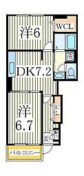 ラグーナA[1階]の間取り