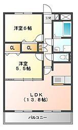 ルネスアニバーサリー[3階]の間取り