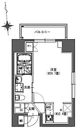 JR総武本線 馬喰町駅 徒歩4分の賃貸マンション 7階ワンルームの間取り