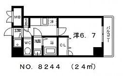 シャルマンフジ大阪城南[8階]の間取り