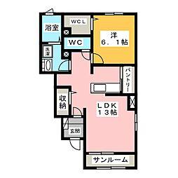 プラーナ B[1階]の間取り
