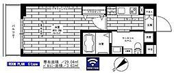 グランドコンシェルジュ鷺宮 5階1Kの間取り