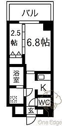 ファイブコート梅田 2階2Kの間取り