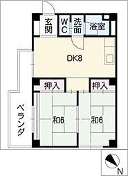 ヴィラコスモス稲沢[4階]の間取り