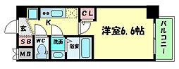 Osaka Metro谷町線 谷町四丁目駅 徒歩5分の賃貸マンション 7階1Kの間取り