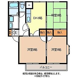 メゾンハイブリッジS棟[1階]の間取り