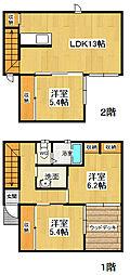 [一戸建] 徳島県徳島市川内町 の賃貸【/】の間取り