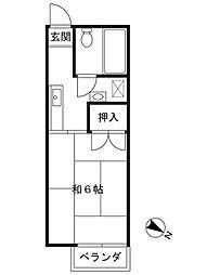 ドミール・ツダ[2階]の間取り