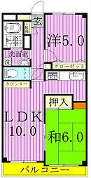エスポワール松戸元山II[4階]の間取り