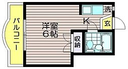 ゴールドファイブ成城[202号室]の間取り
