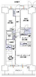 大阪ベイレジデンスブライトフルコート 5階3LDKの間取り