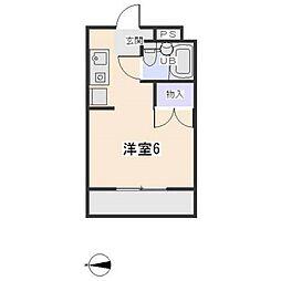 愛知県岡崎市岩津町字申堂の賃貸マンションの間取り