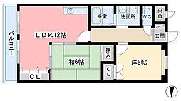 奈良県奈良市西大寺本町の賃貸マンションの間取り