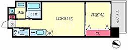 FDS AZUR(エフディーエス アズール) 6階1LDKの間取り