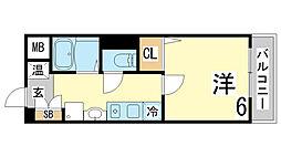 兵庫県神戸市須磨区車下大道の賃貸マンションの間取り