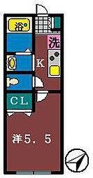 ニューステージ船橋[205号室]の間取り