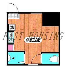 東京メトロ副都心線 北参道駅 徒歩1分の賃貸アパート 1階ワンルームの間取り