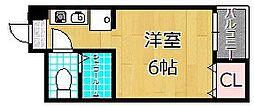 ほーむ21SINMATI[4階]の間取り