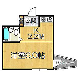 アヴェリタ姫島[602号室]の間取り