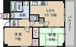 北大阪急行電鉄 桃山台駅 徒歩11分の賃貸マンション 4階2LDKの間取り
