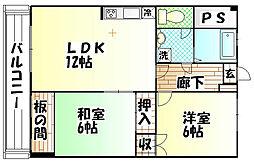 今井パレス1[302号室]の間取り