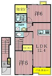 ポンム・ド・テールI・II[II202号室]の間取り