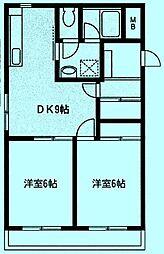 サニーコート・ナカイ[2階]の間取り