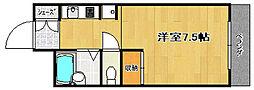 スチュディオ灰塚[1階]の間取り