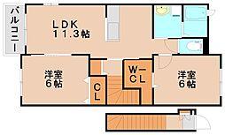 クレア弥生弐番館[2階]の間取り