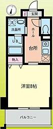 小田急小田原線 鶴川駅 徒歩1分の賃貸マンション 5階1Kの間取り