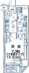 ルクシェール横濱[6階]の間取り