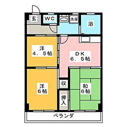 清菱ハイツ[5階]の間取り