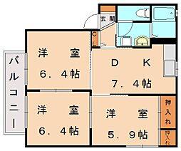 シャーメゾン新宮[2階]の間取り