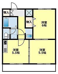 愛知県豊田市井上町2丁目の賃貸マンションの間取り