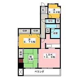 ホーユウパレス前橋文京町[9階]の間取り