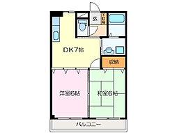 サンハイツイトウ A棟[1階]の間取り