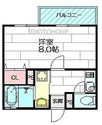 ルナ江坂[2階]の間取り